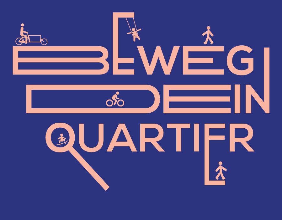 """Logo des Projekts """"Beweg Dein Quartier!"""""""