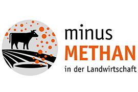 """Logo des Projekts """"minus Methan in der Landwirtschaft"""""""