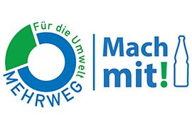 """Logo des Projekts """"Mehrweg - Mach mit!"""""""