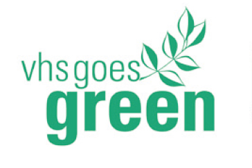 "Logo des Projekts ""vhs goes green"""